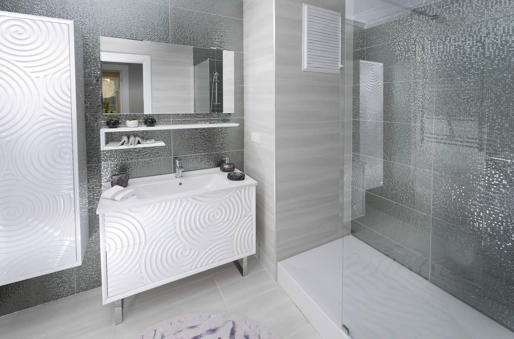 現代浴室設計點子、靈感&圖片 根據 MAG Tasarım Mimarlık İnşaat Emlak San.ve Tic.Ltd.Şti. 現代風