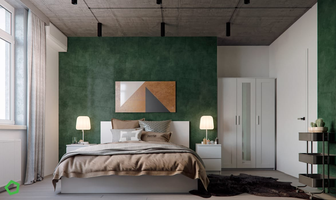 Phòng ngủ phong cách tối giản bởi Polygon arch&des Tối giản