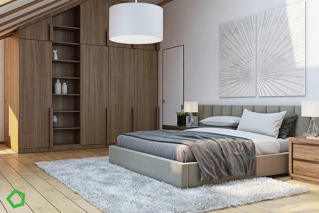Kamar Tidur Modern Oleh Polygon arch&des Modern