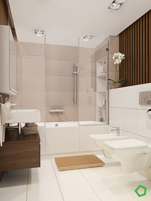 Myalik apartment: Ванные комнаты в . Автор – Polygon arch&des,