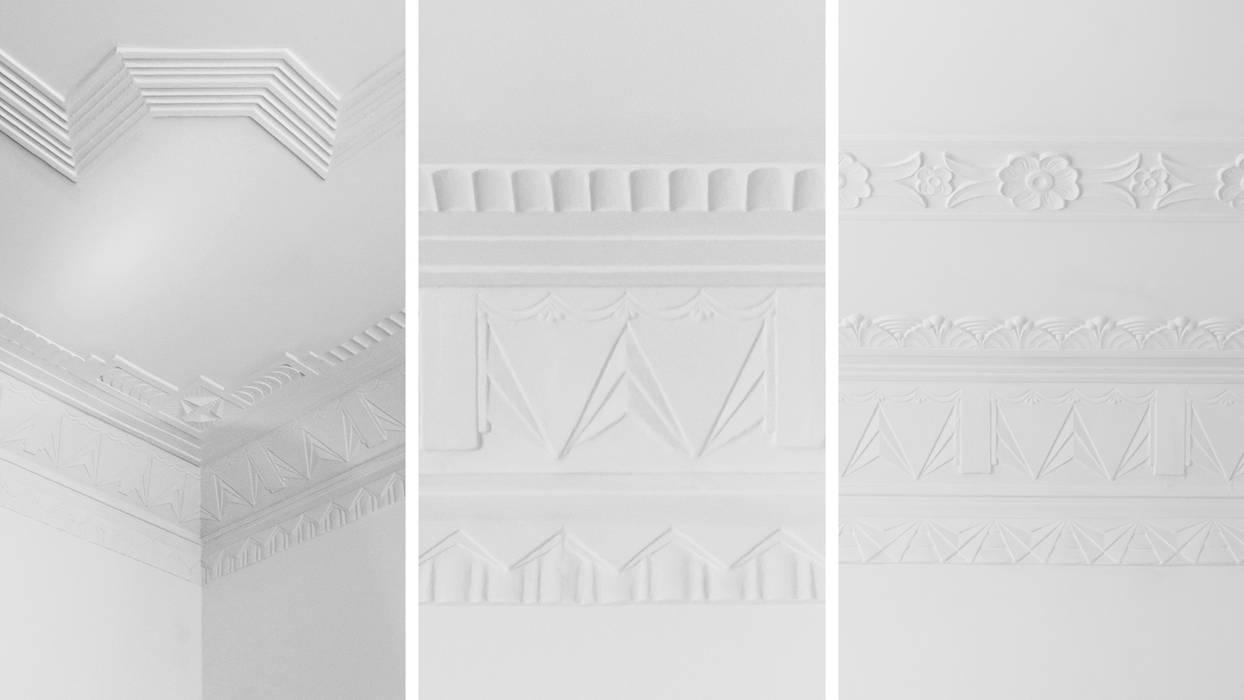 Pormenores de tectos | Ceiling design details Paredes e pisos coloniais por FMO ARCHITECTURE Colonial
