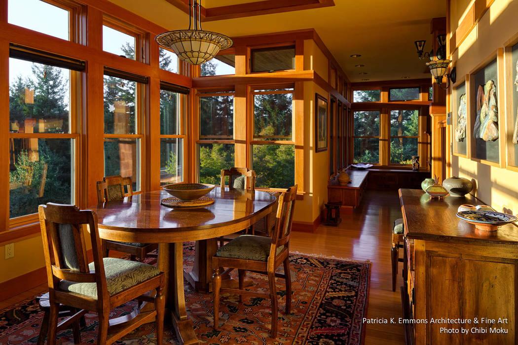 Salas de jantar modernas por Chibi Moku Architectural Films Moderno Madeira Acabamento em madeira