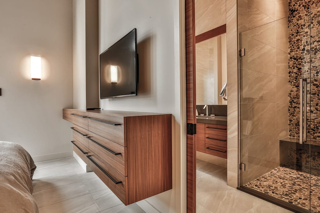 Winnipeg beach weekend home:  Bedroom by Unit 7 Architecture,
