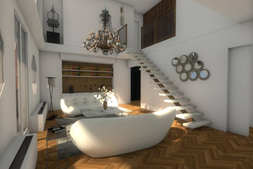 Vue du salon: Salon de style  par Dem Design