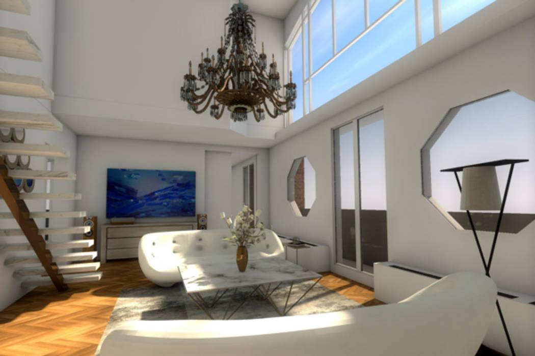 Vue du séjour: Salon de style de style Moderne par Dem Design