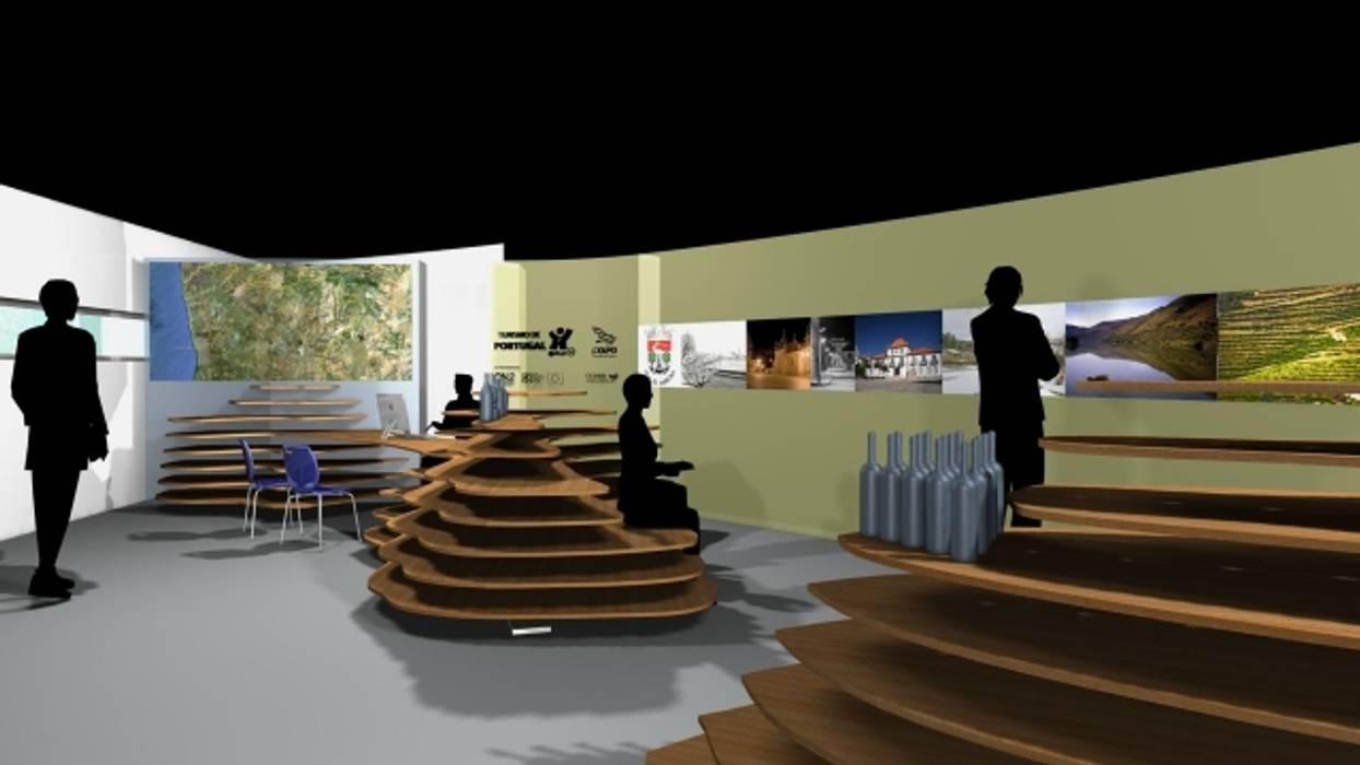 expositores CIT Sabrosa: Espaços comerciais  por arcquitecto
