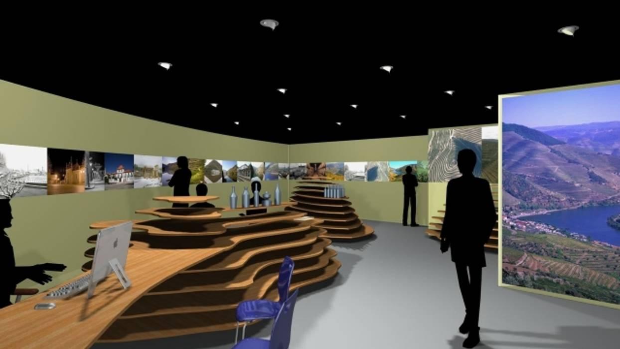 Expositores CIT Sabrosa Espaços comerciais modernos por arcq.o   rui costa & simão ferreira arquitectos, Lda. Moderno