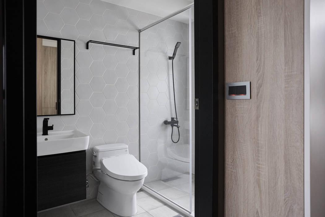 Salle de bain moderne par 寬度 空間設計整合 Moderne