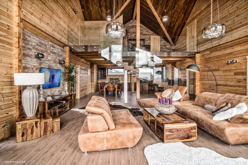 Das Wohnzimmer Mit Der Galerie Von Woody Holzhaus Kontio Homify