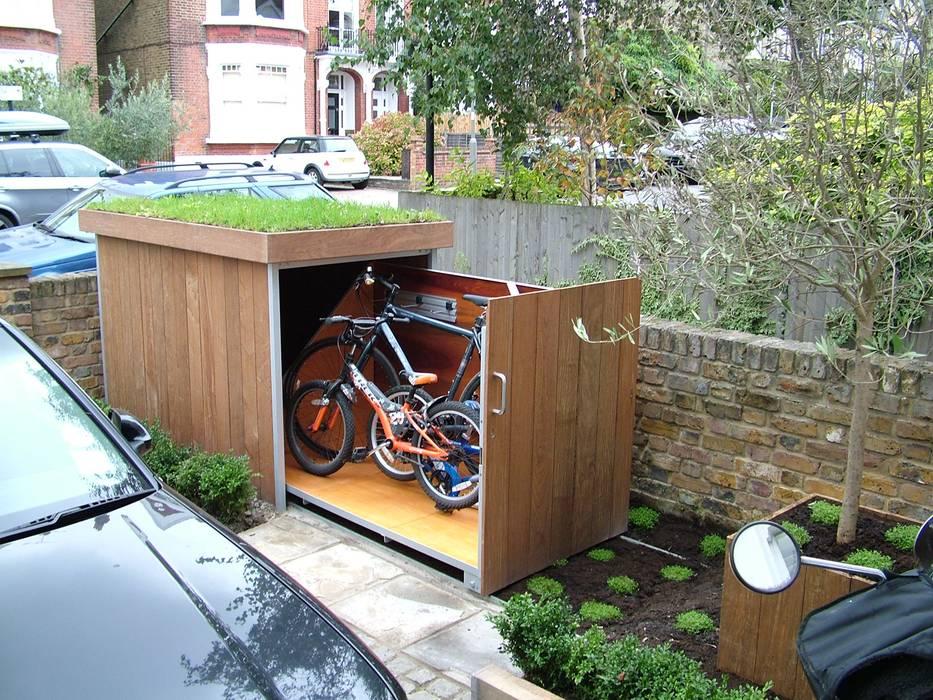 Bicycle storage TreeSaurus Garages & sheds Solid Wood Brown