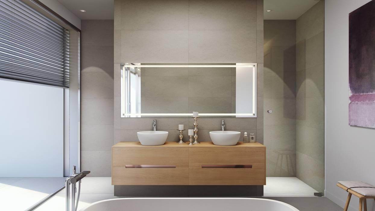 Olivo. Las Colinas. Marjal: Baños de estilo  de GESTEC. Arquitectura & Ingeniería