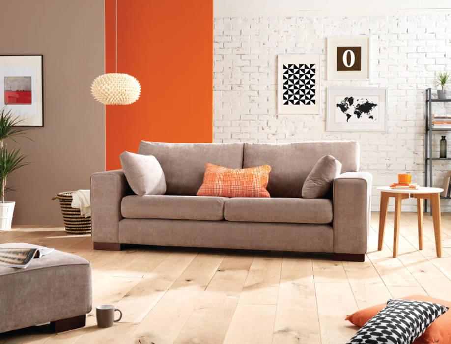de style  par SofaSofa, Moderne Textile Ambre/Or