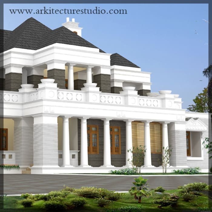 Colonial Style Luxury Indian Home Design Colonial Style