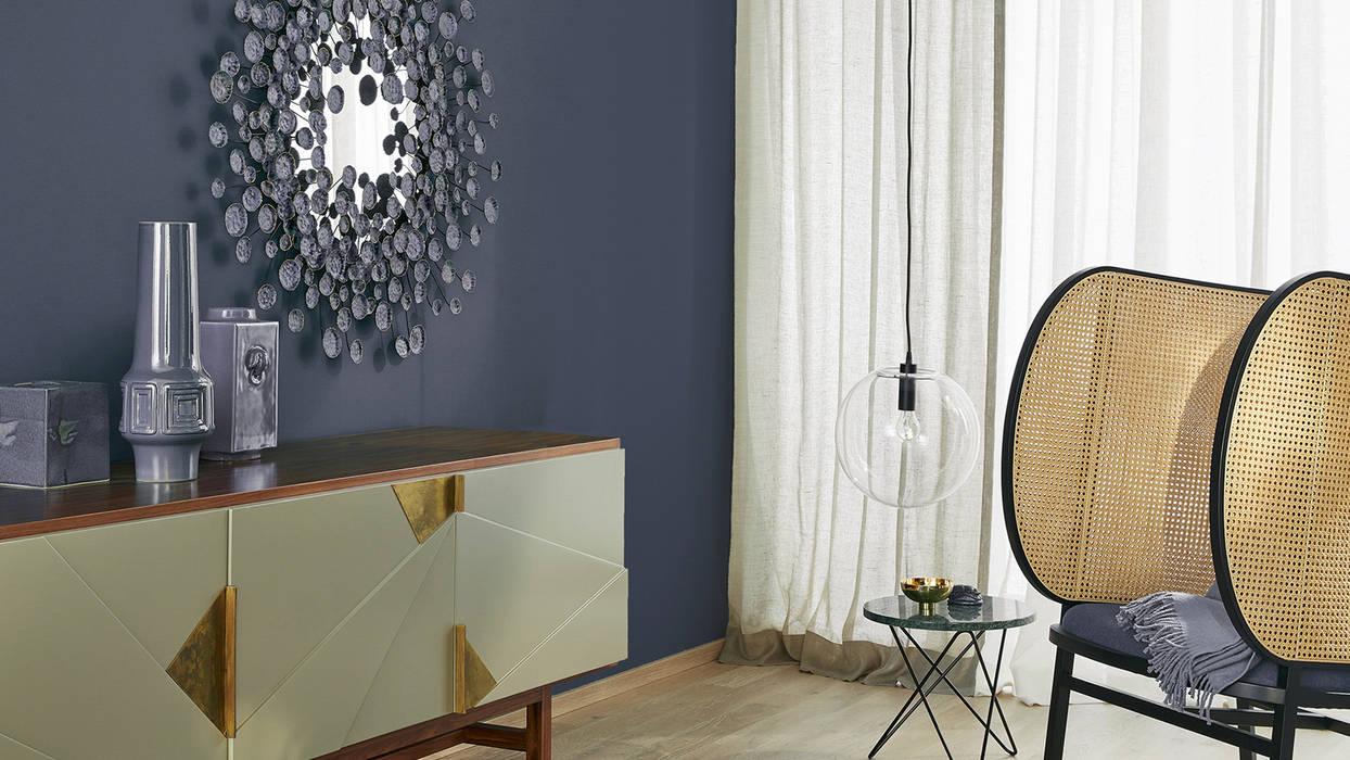 Trendfarbe Grape homify Moderne Wohnzimmer Blau