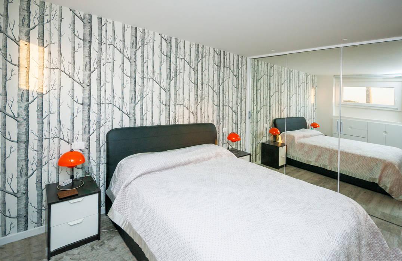 Ristrutturazione appartamento 50 mq Scandinavian style bedroom by Fabiola Ferrarello architetto Scandinavian Wood Wood effect