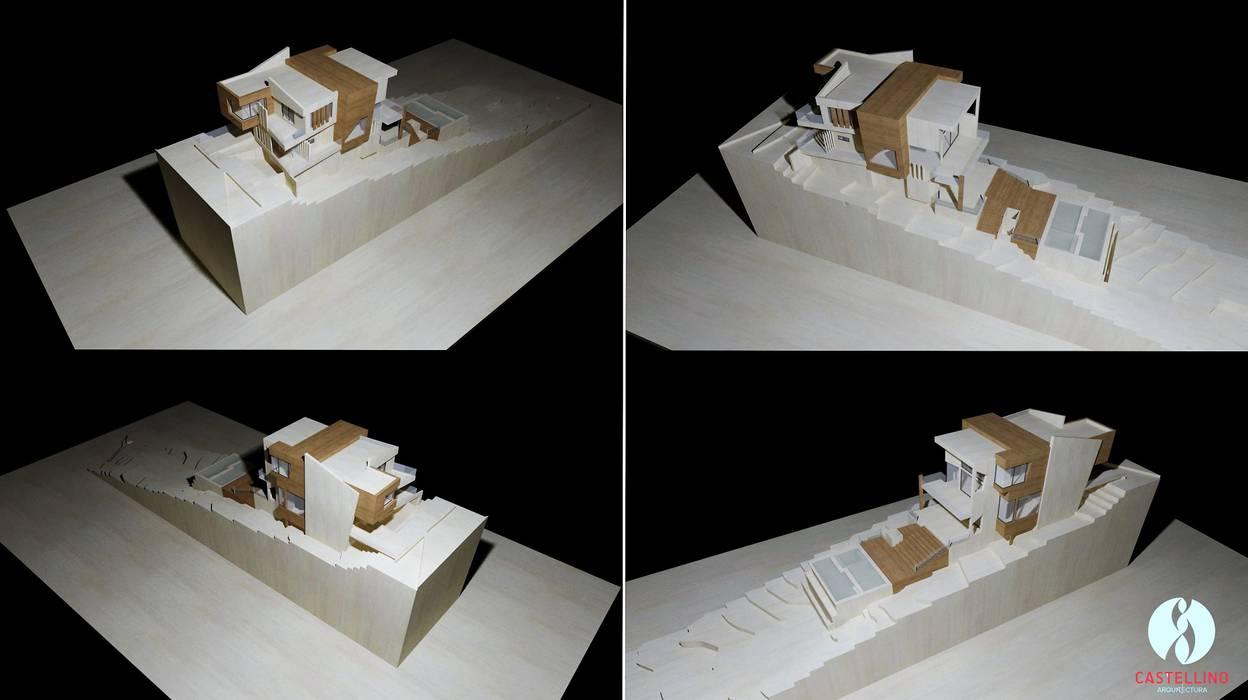 Visualización general de Proyecto - Perspectivas atmosféricas Casas modernas: Ideas, imágenes y decoración de CASTELLINO ARQUITECTOS (+) Moderno Hormigón
