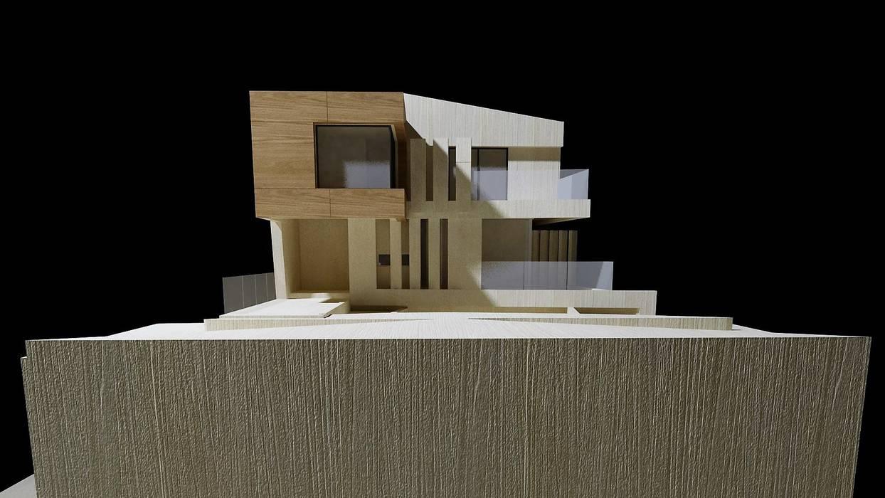 Estudio - Investigación de Fachada: Casas de estilo moderno por CASTELLINO ARQUITECTOS (+)