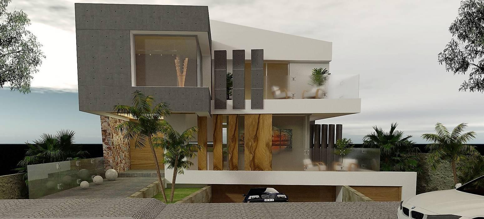 Estudio de Texturas - Visualización de proyecto Casas modernas: Ideas, imágenes y decoración de CASTELLINO ARQUITECTOS (+) Moderno Hormigón