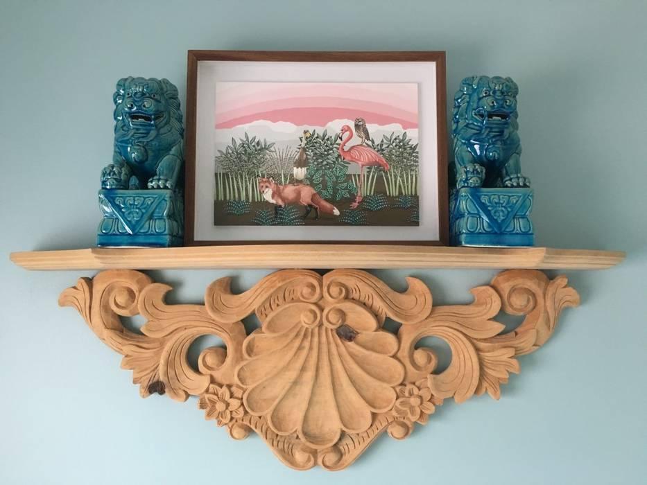 The Painted Door Design Company Cuartos de estilo ecléctico