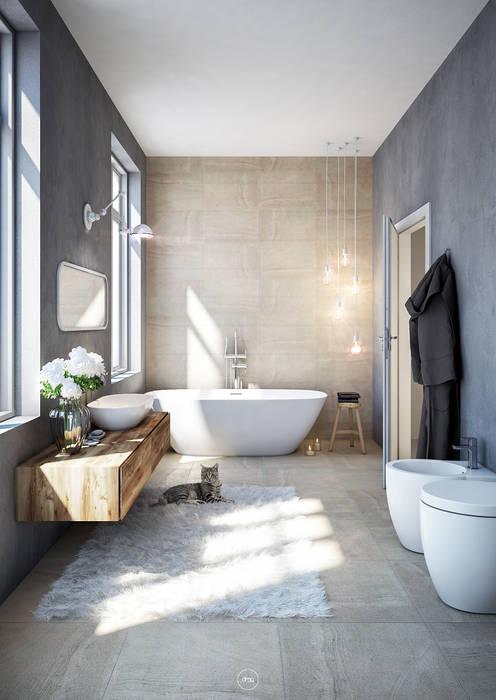 Bathroom in Sardinia DMC Real Render Bagno in stile industriale