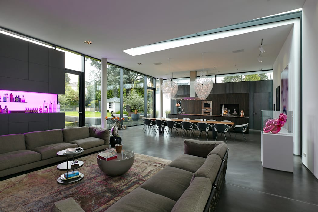 Wohn-essbereich moderne wohnzimmer von lioba schneider ...