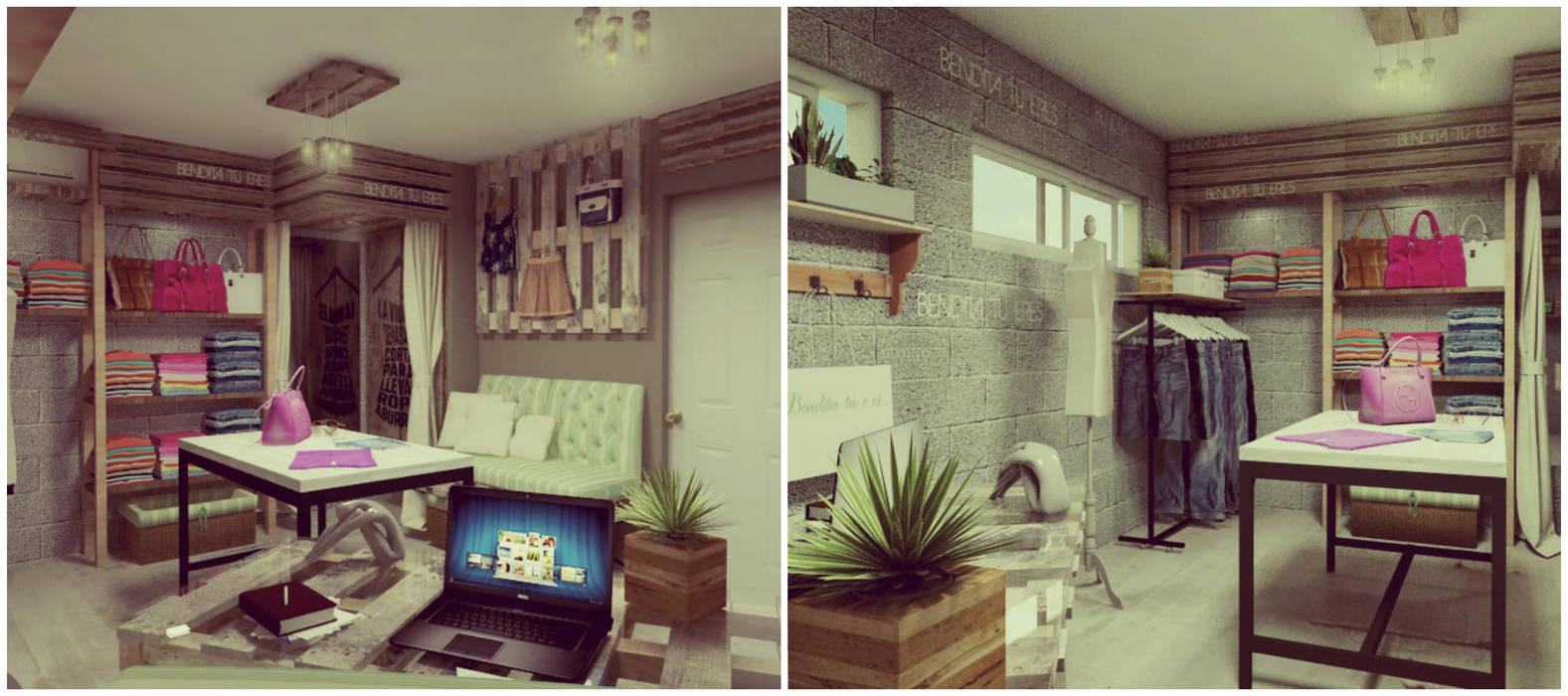 Showroom: Vestidores y placares de estilo moderno por VI Arquitectura & Dis. Interior