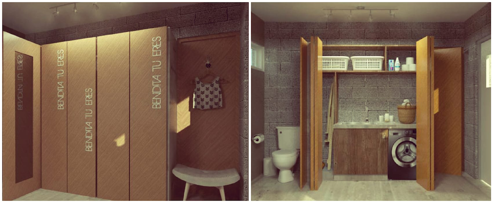 Lavadero / Vestidor: Vestidores y placares de estilo moderno por VI Arquitectura & Dis. Interior