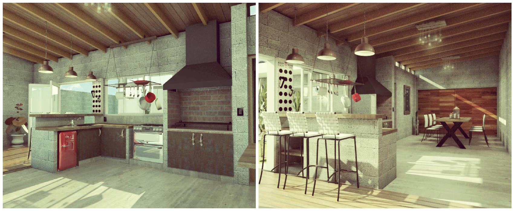 Quincho / Garage: Comedores de estilo moderno por VI Arquitectura & Dis. Interior