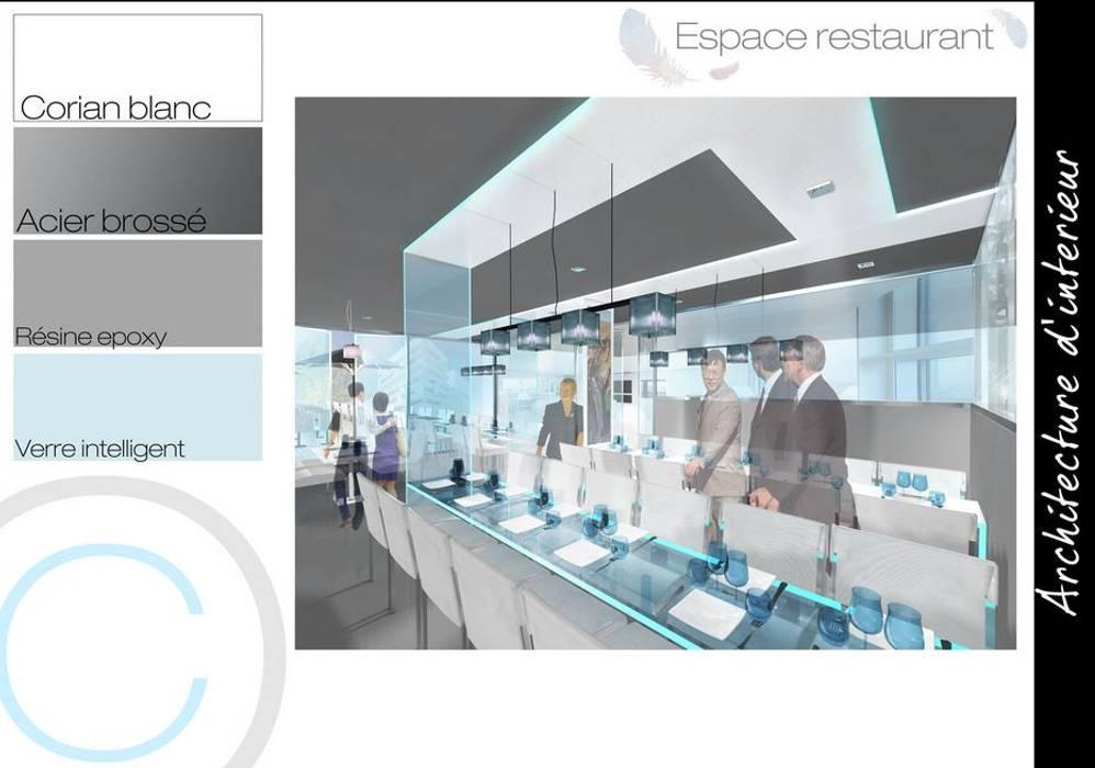 Salle de restaurant: Restaurants de style  par Crhome Design
