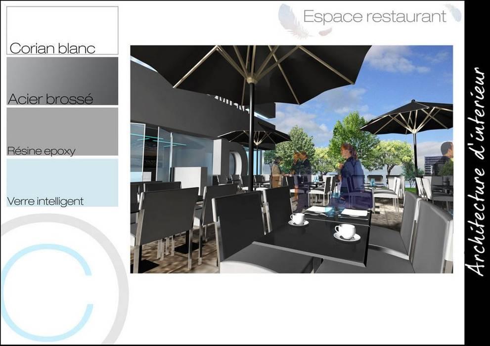 Terrasse: Restaurants de style  par Crhome Design