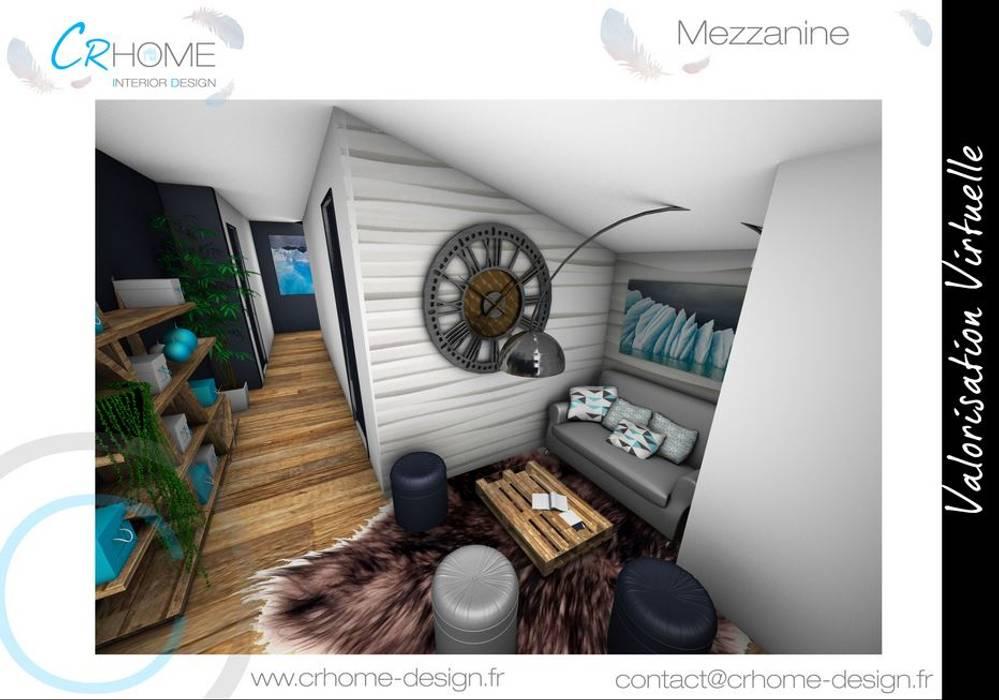 Espace lecture: Couloir et hall d'entrée de style  par Crhome Design