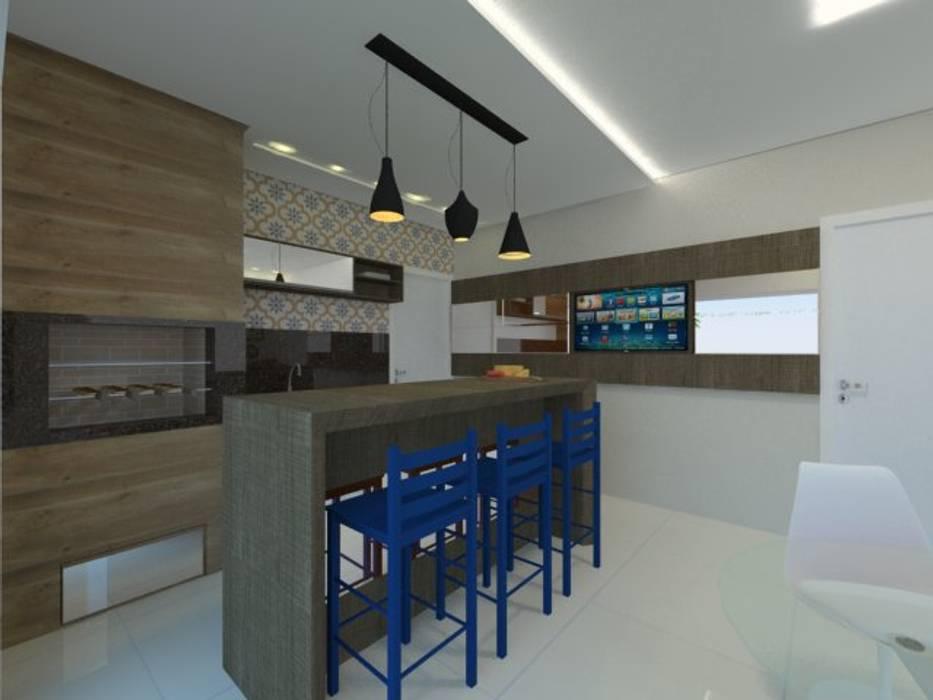 Paredes y suelos de estilo moderno de Karoline Gesser Leal Interiores Moderno