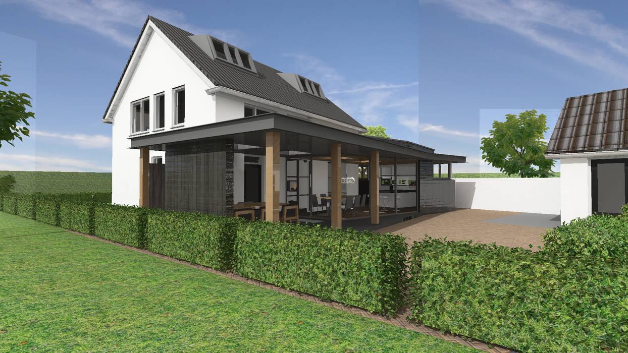 Vergunningsvrije aanbouw te Heukelum Moderne huizen van Loosbroek architecten bv Modern