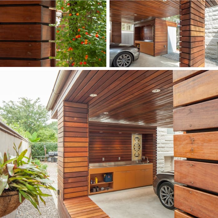 City Park Carport, New Orleans:  Garage/shed by studioWTA