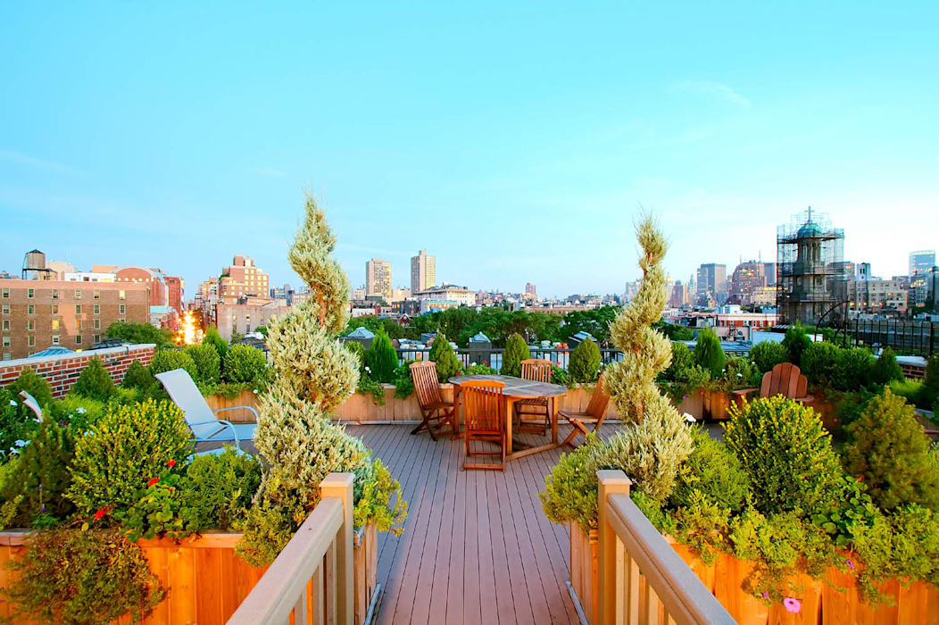 West Village NYC Rooftop Garden Eclectic style garden by Amber Freda Home & Garden Eclectic