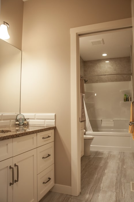 2nd Floor Bathroom:  Bathroom by Drafting Your Design