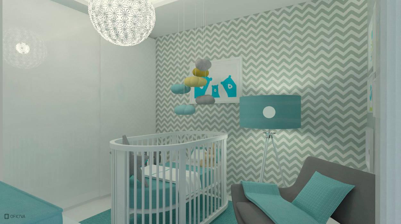 Apartamento Leiria: Quartos de criança  por OFICINA - COLECTIVO DE IDEIAS, LDA