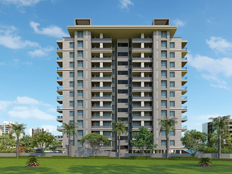 High Rise Apartment Exterior Design Houses By Kcl Solutions