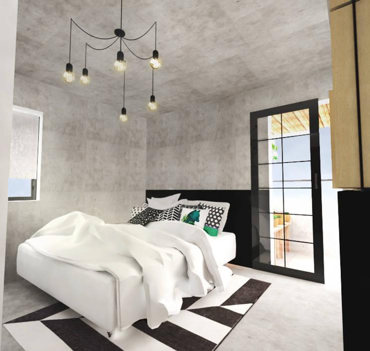 Industriële slaapkamer door andressa cobucci estúdio   homify