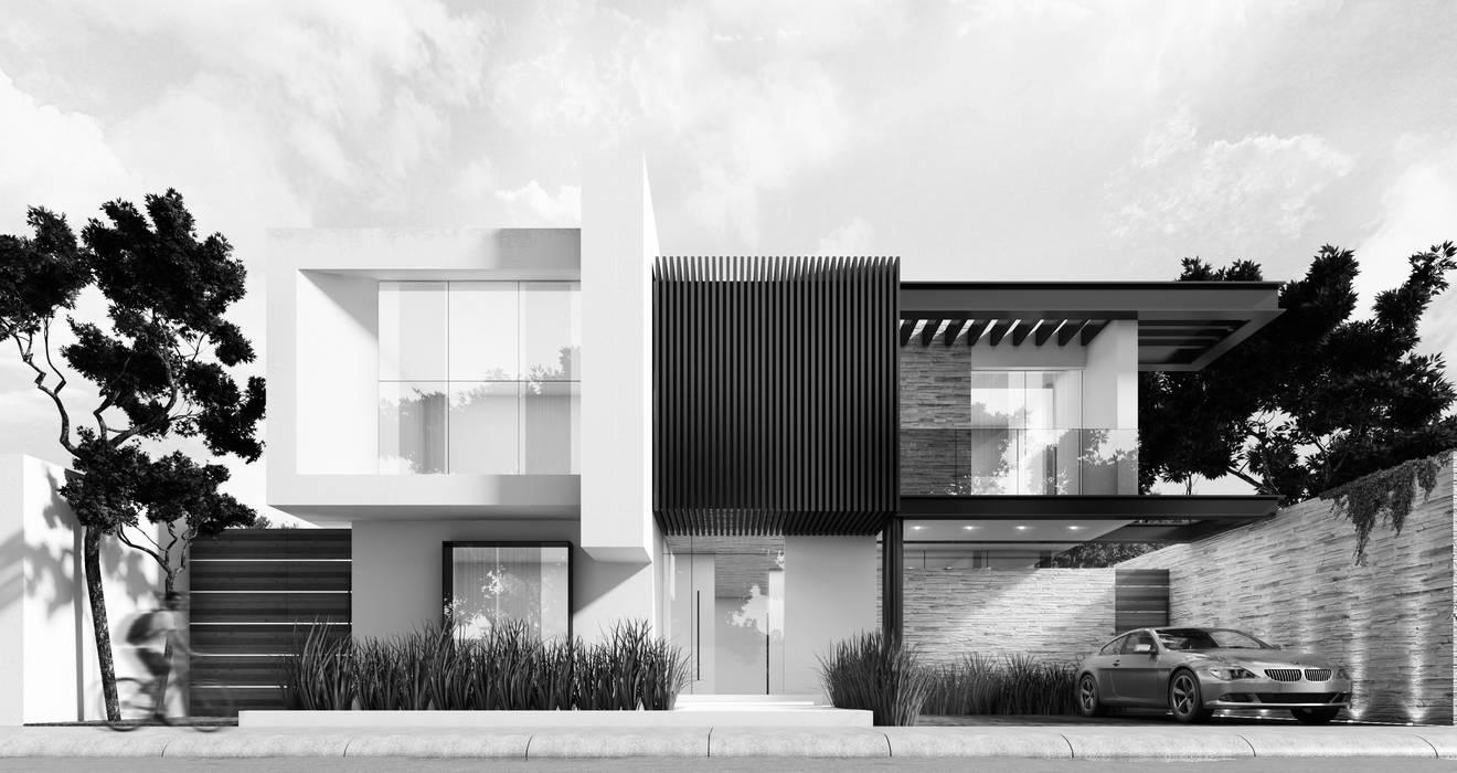 Minimalistyczne domy od Besana Studio Minimalistyczny