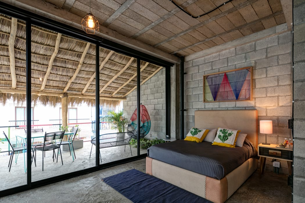 PLAZA PAPELILLO: Recámaras de estilo  por MORADA CUATRO, Tropical