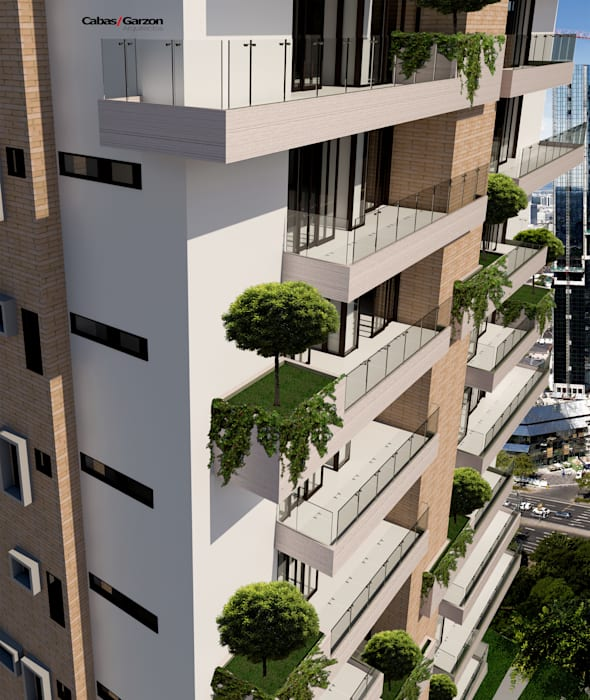 Cabas/Garzon Arquitectos 모던스타일 주택
