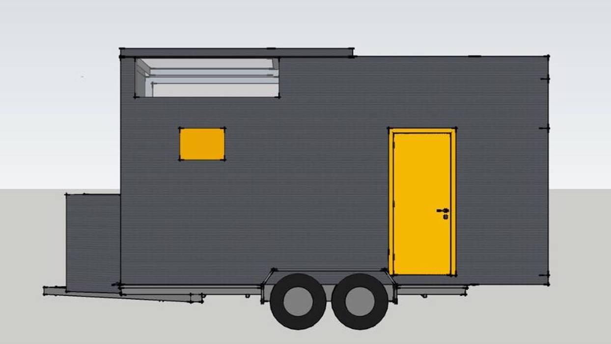 Tiny House On Wheels : Quartos  por BOXCODE