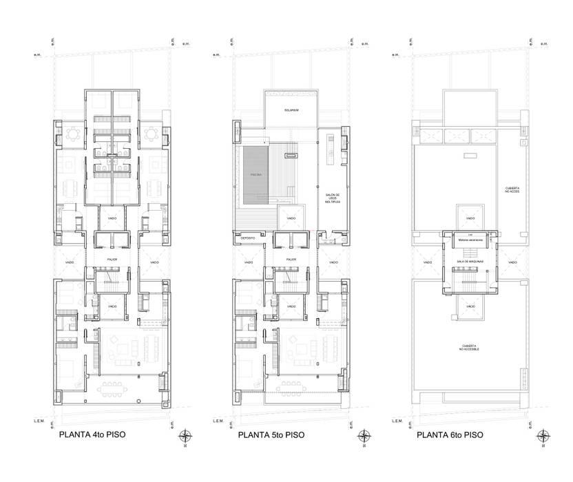 EDIFICIO BELGRANO CENTRO - Autores: Mauricio Morra Arq., Diego Figueroa Arq. y Arte de Dos: Casas de estilo  por Mauricio Morra Arquitectos
