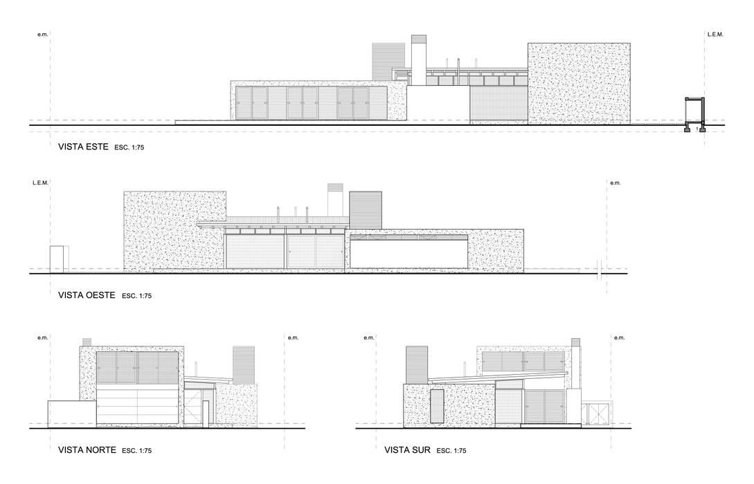 CASA DE PIEDRA - Autores: Mauricio Morra Arq., Diego Figueroa Arq.: Casas de estilo  por Mauricio Morra Arquitectos