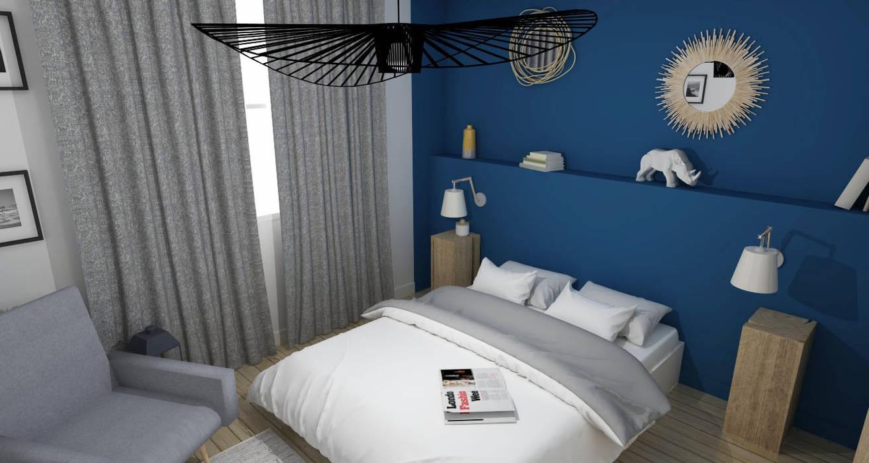 R novation d 39 un appartement toulousain des ann es 60 chambre de style de style moderne par ml - Deco chambre annee 60 ...