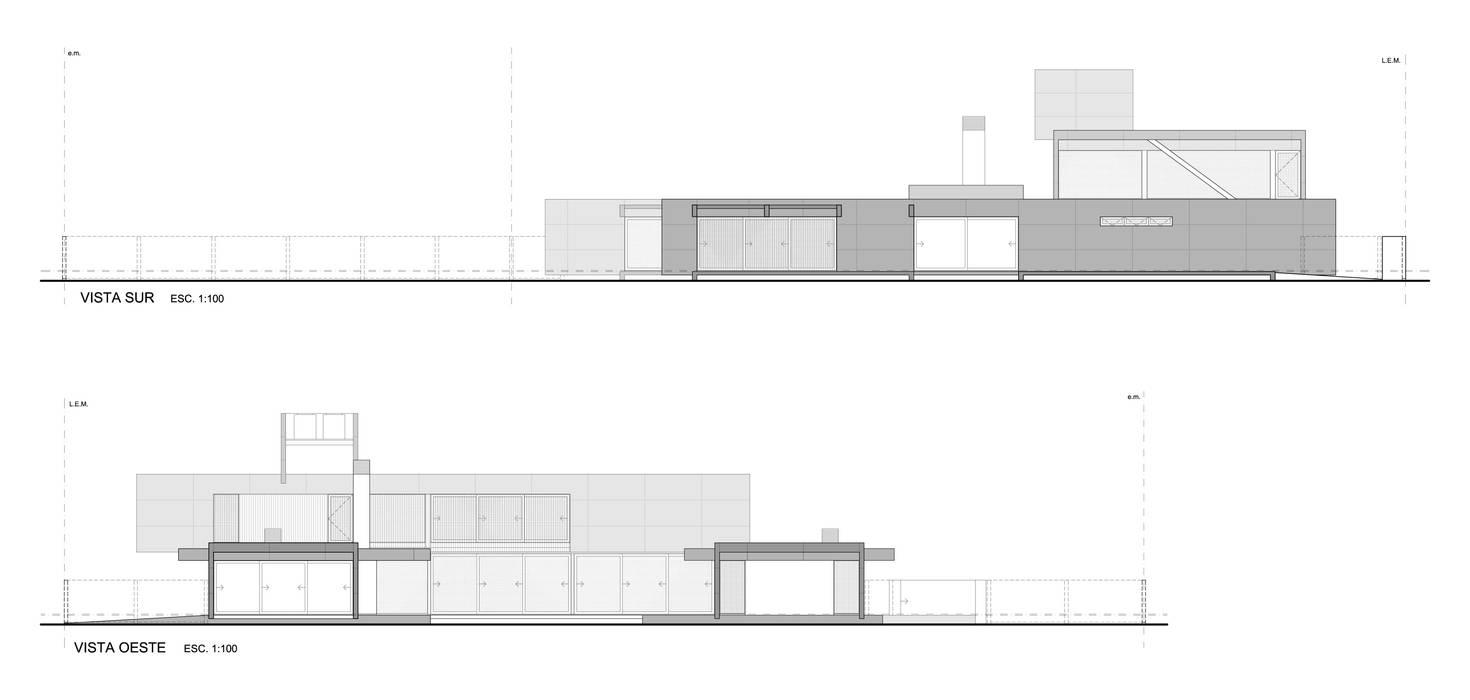 CASA DE HORMIGÓN -  Autores: Mauricio Morra Arq., Diego Figueroa Arq.: Casas de estilo  por Mauricio Morra Arquitectos