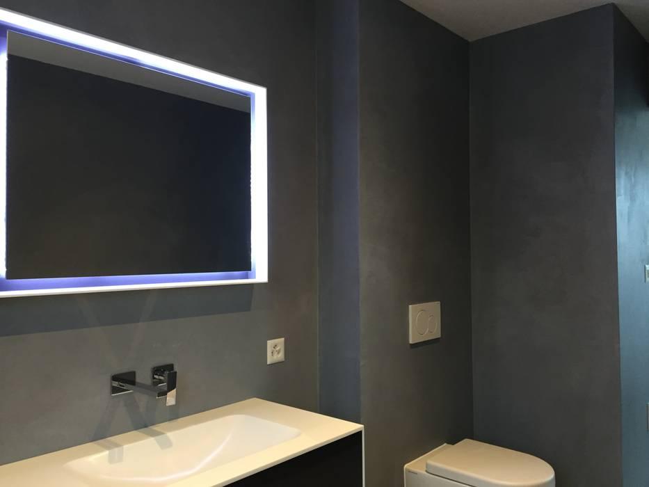 Beton cire bad minimalistische badezimmer von beton2 ...