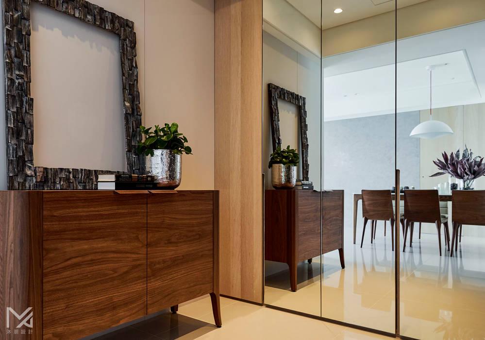 土城-董宅 沐朋設計 現代風玄關、走廊與階梯