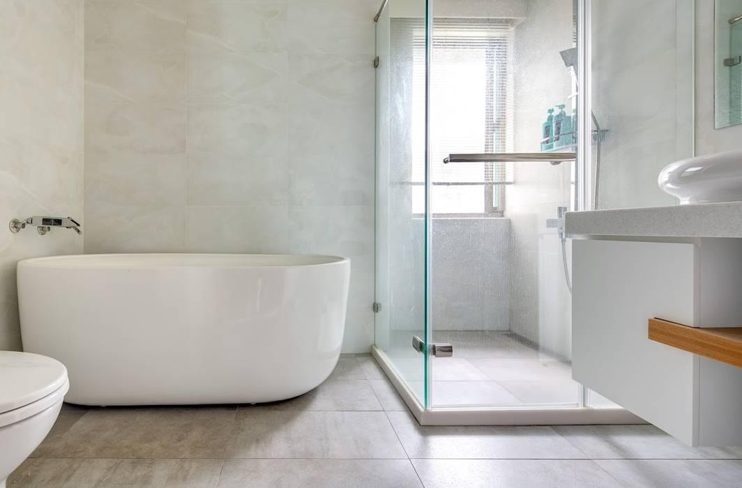 內湖-公園錄:  浴室 by 唯創空間設計公司, 日式風、東方風
